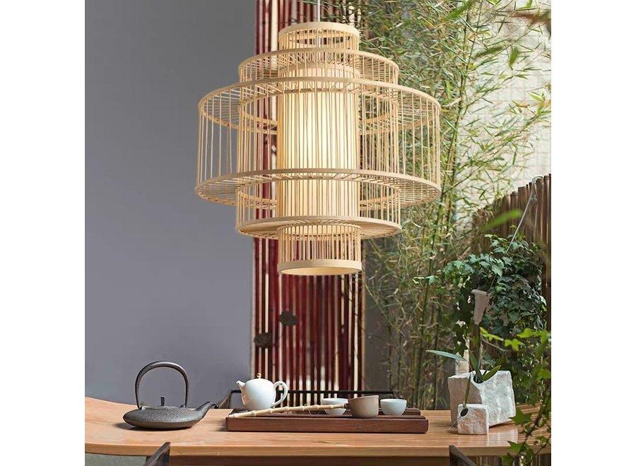 Fine Asianliving Pendelleuchte Hängelampe Bambus Handgefertigt - Leona