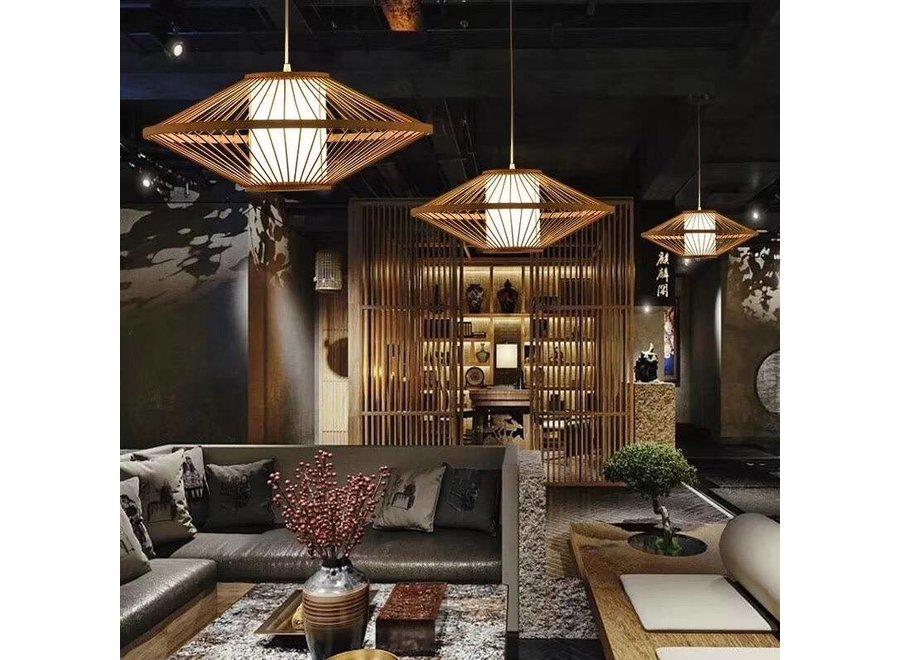 Fine Asianliving Pendelleuchte Hängelampe Bambus Handgefertigt - Sienna