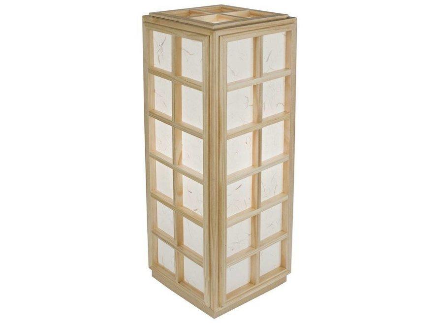 Japanische Lampe Holz und Shoji Reispapier Natur - Nagoya