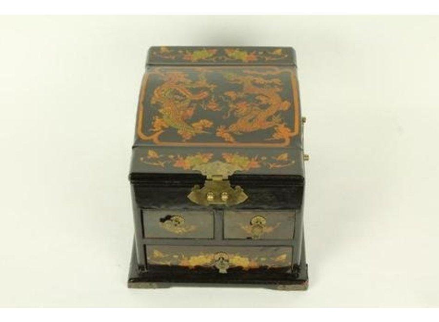 Fine Asianliving Tibetan mirror jewelery box black