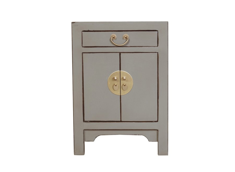 Fine Asianliving Chinees Nachtkastje Olive Grey B42xD35xH60cm
