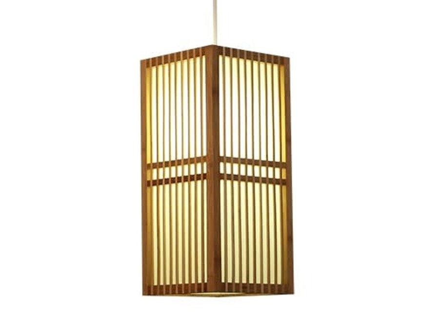 Japanische Lampe Shoji Natur - Kobe B17xT17xH37cm