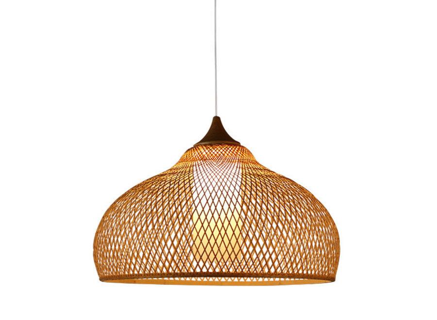 Lampe Bambus Webbing Handgefertigt - Rosa D52xH30cm