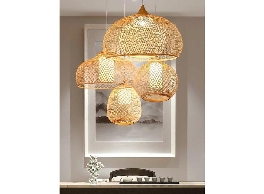Lampe Bambus Webbing Handgefertigt - Rosalyn D41xH35cm
