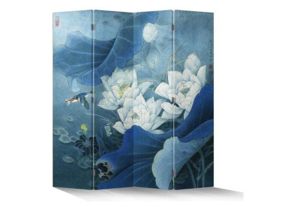 Raumteiler Paravent Sichtschutz Trennwand Raumtrenner Leinwand Spanische Wand L160xH180cm