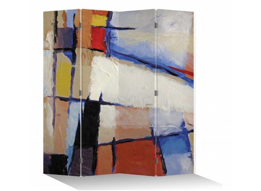 Raumteiler Trennwand B160xH180cm 4-teilig Zeitgenössische Kunst