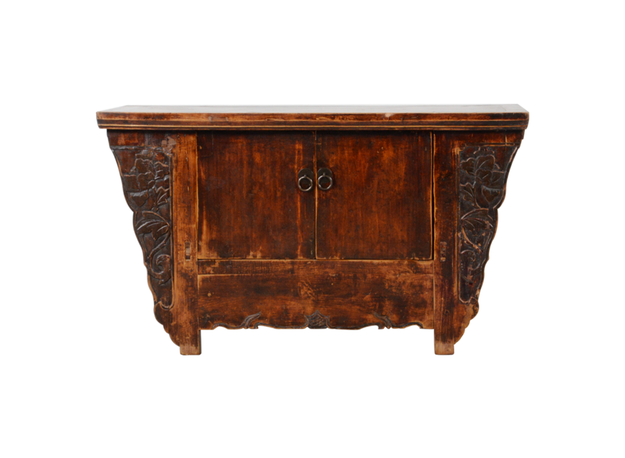 Fine Asianliving Antique Chinese Cabinet Handcarved W97xD39xH63cm
