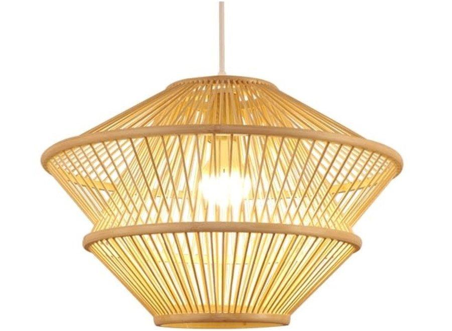 Hängelampe Bambus Handgefertigt - Oceana - D46xH31cm