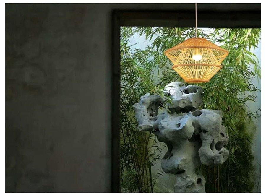 Fine Asianliving Hängelampe Bambus Handgefertigt - Oceana - D46xH31cm