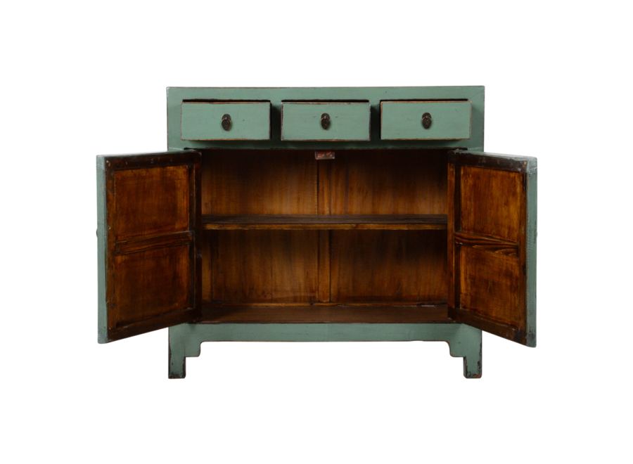 Fine Asianliving Antique Chinese Sideboard Mint Glossy W110xD40xH94cm