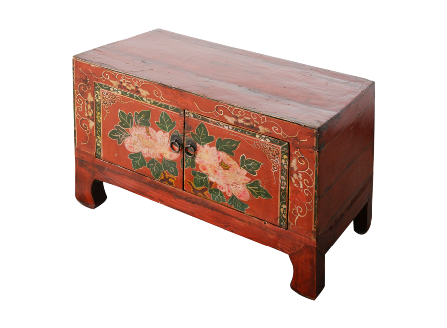Fine Asianliving Antique Chinese Cabinet Handpainted W78xD38xH47cm