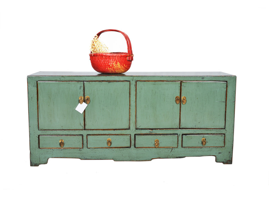 Fine Asianliving Antique Chinese TV Cabinet Mint Glossy W138xD39xH66cm