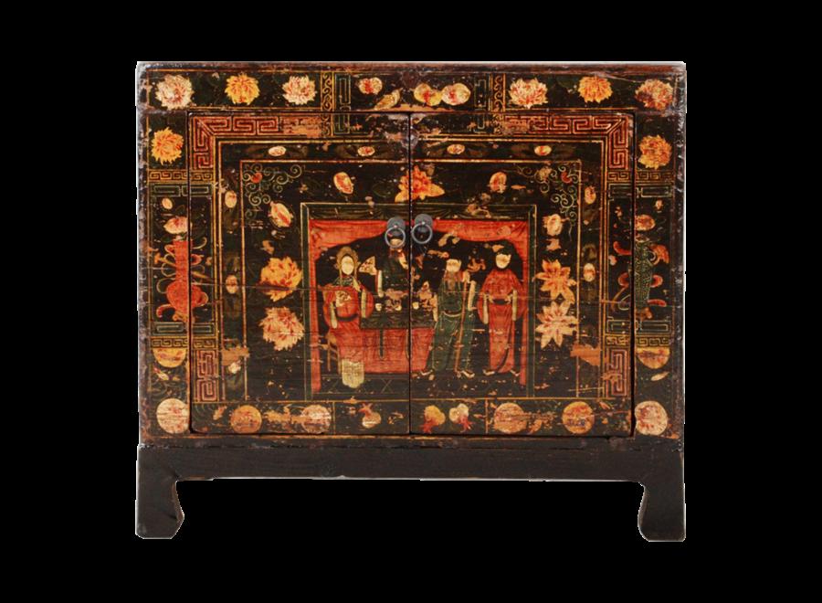 Antiker Chinesischer Schrank Handgemalt B88xT38xH77cm