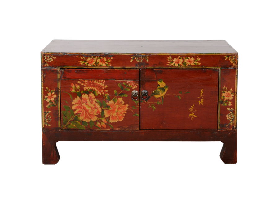 Fine Asianliving Antique Chinese Cabinet Handpainted W83xD36xH50cm
