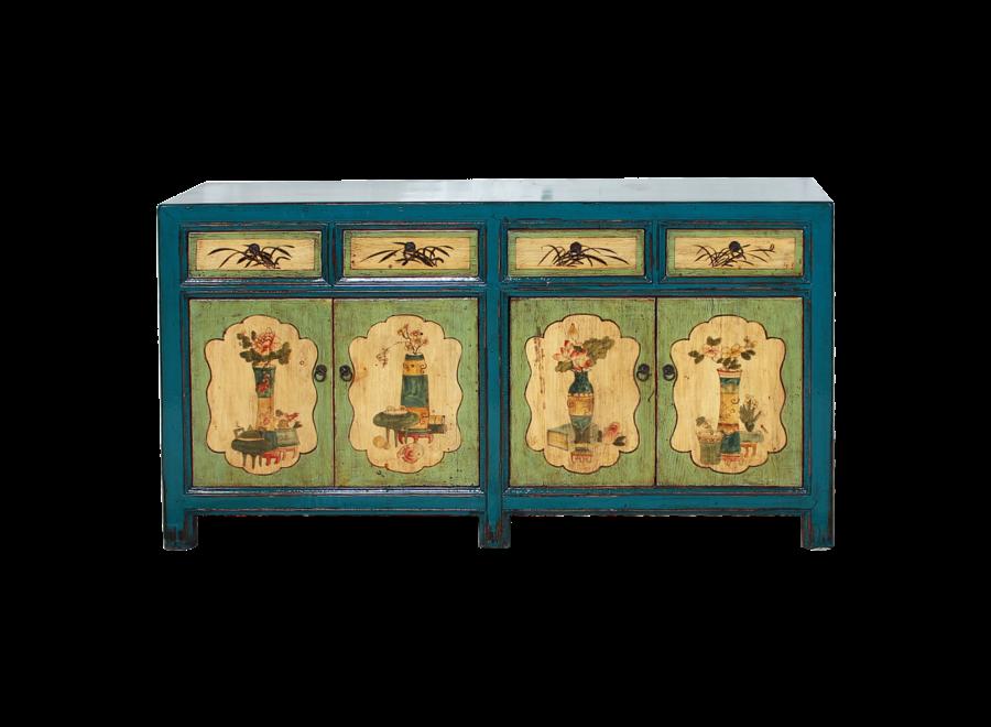 Antikes Chinesisches Sideboard Kommode Handbemalt B142xT40xH85cm
