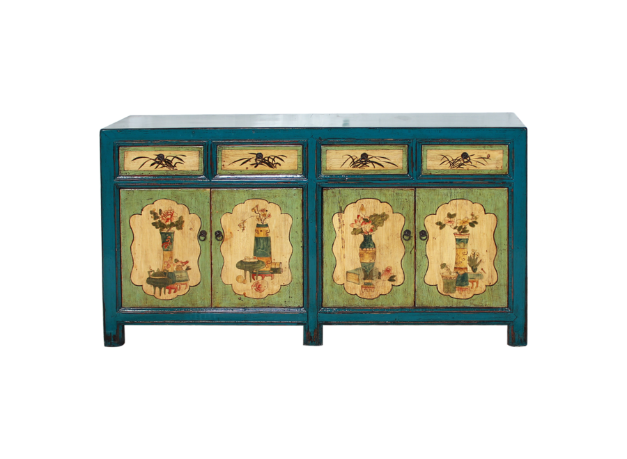 Fine Asianliving Antique Chinese Sideboard Handpainted W142xD40xH85cm