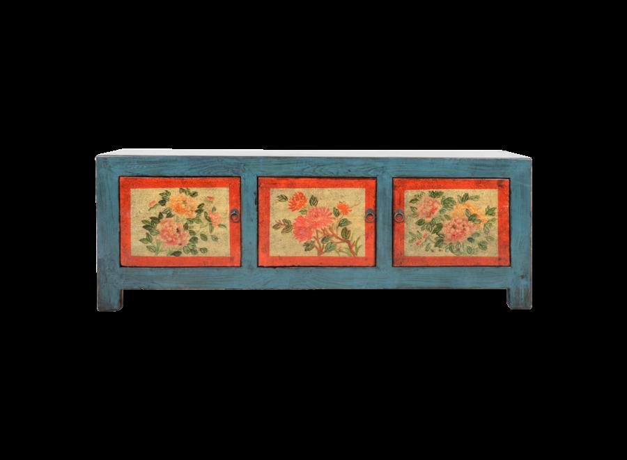 Antiker Chinesischer Schrank Handgemalt B153xT41xH56cm