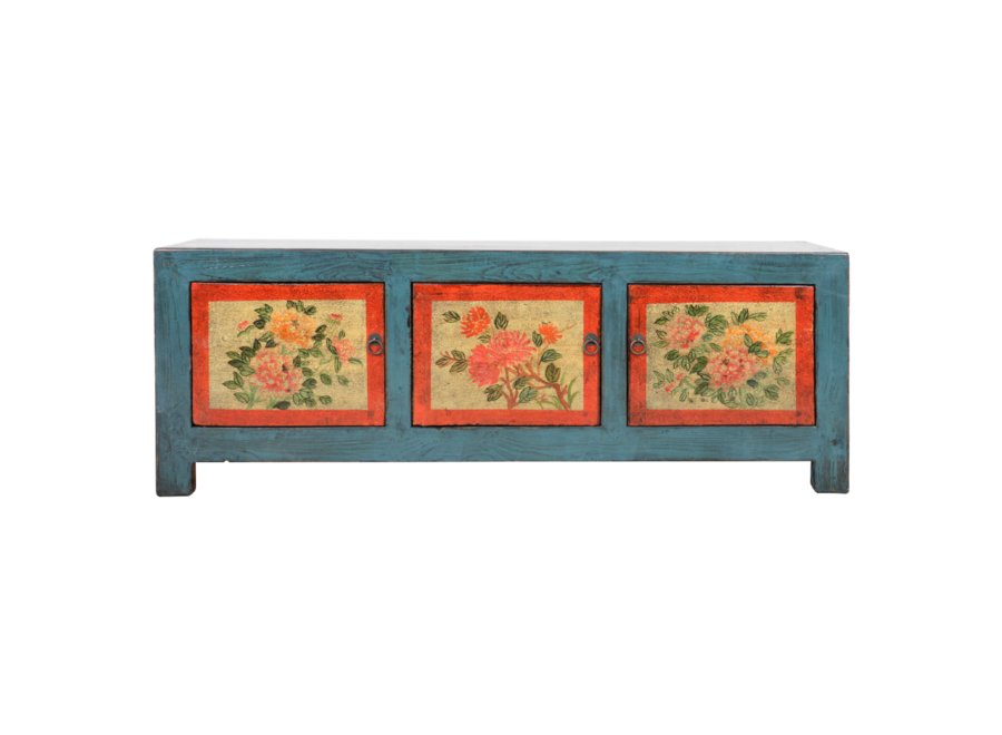 Fine Asianliving Antique Chinese Cabinet Handpainted W153xD41xH56cm