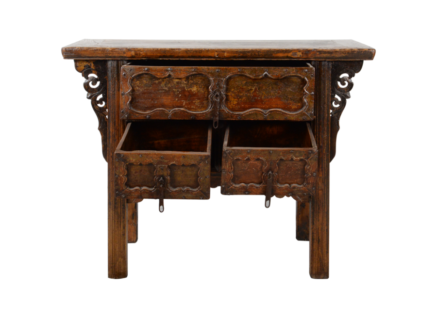 Fine Asianliving Antique Chinese Console Table Handcarved W106xD48xH85cm