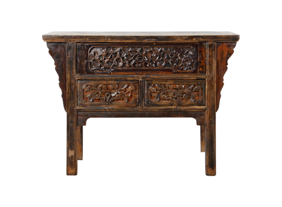 Fine Asianliving Antique Chinese Console Table Handcarved W120xD48xH86cm