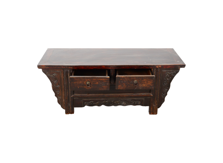 Fine Asianliving Antique Chinese Cabinet Handcarved W108xD43xH45cm