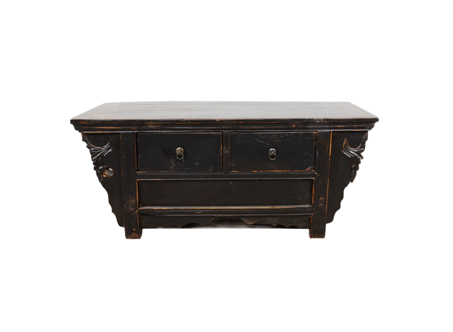 Fine Asianliving Antique Chinese Cabinet Handcarved W105xD40xH39cm