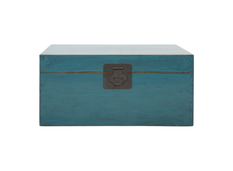 Antique Chinese Chest Blue Glossy W90xD54xH45cm