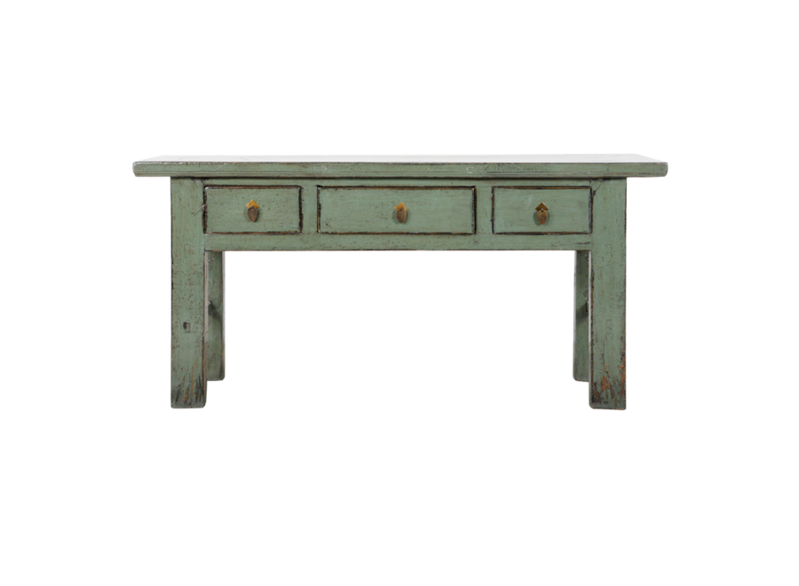 Fine Asianliving Antique Chinese Console Table Mint Glossy W171xD45xH83cm
