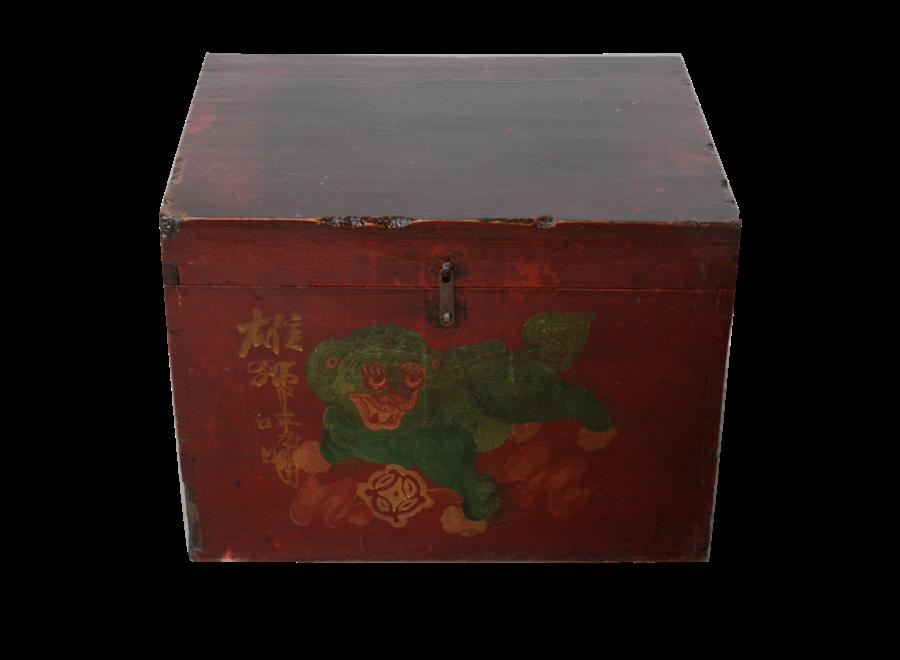 Antique Chinese Box Handpainted Chinese Myth