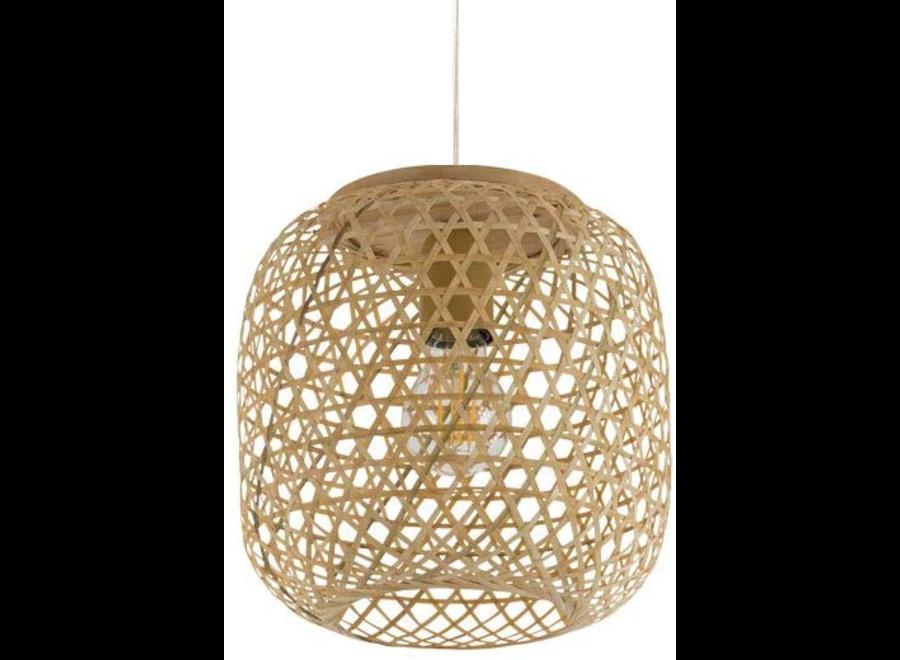 Pendelleuchte Hängelampe Bambus Webbing Handgefertigt Sakiya D25xH30cm