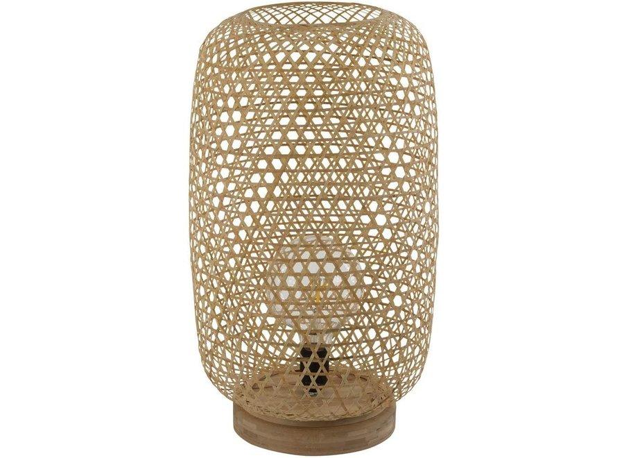 Fine Asianliving Bamboo Webbing Table Lamp Sanako  W28xD21xH59cm