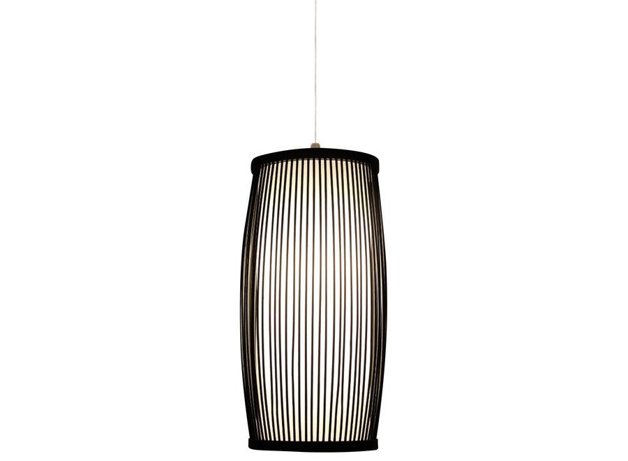 Fine Asianliving Bamboo Hanging Lamp Black Elliot D18xH33cm