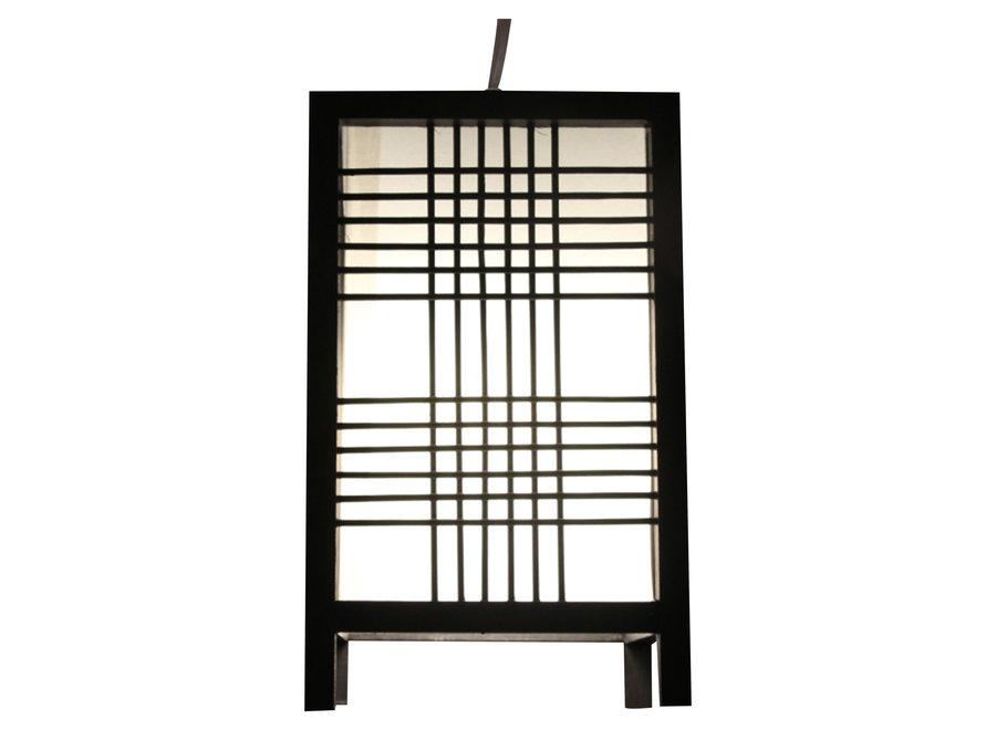 Japanese Lamp Shoji Black Ushiku W15xD15xH25cm