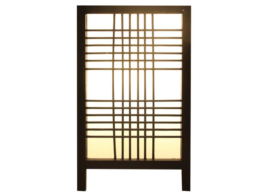 Japanese Lamp Shoji Black Ishikari W15xD15xH25cm