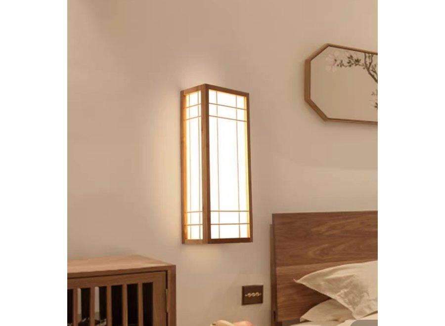 Fine Asianliving Japanese Wall Lamp Shoji Natural Akita W12xD20xH50cm