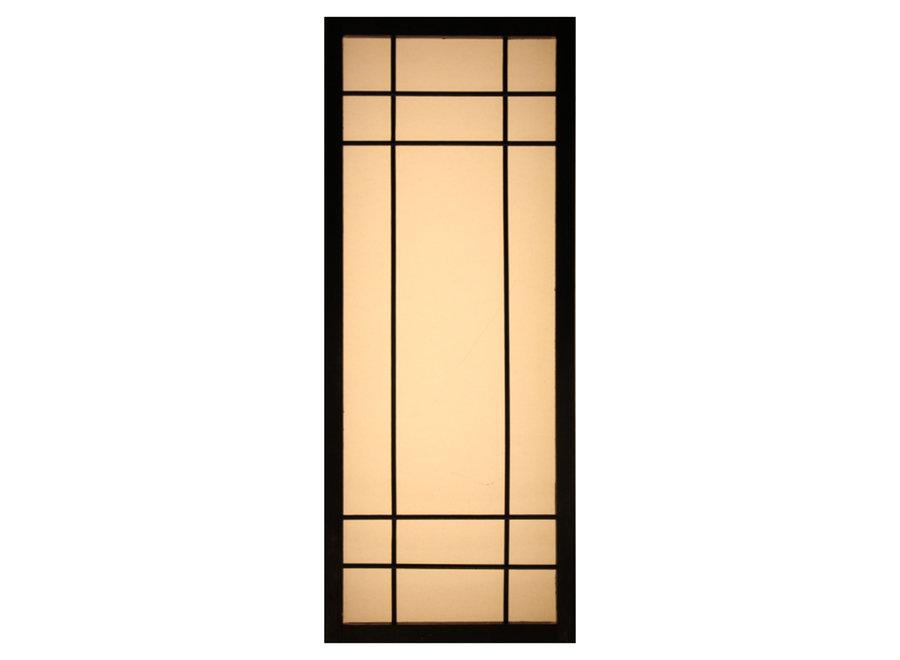 Fine Asianliving Japanese Wall Lamp Shoji Black Noshiro W12xD20xH50cm