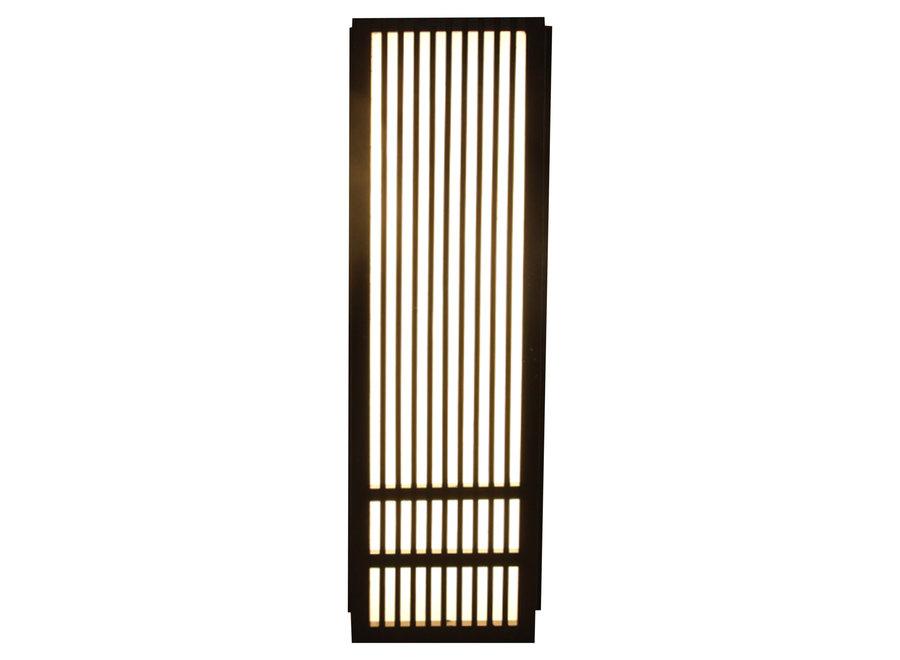 Japanese Wall Lamp Shoji Black Kazuno W8xD15xH50cm