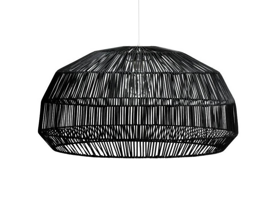 Fine Asianliving Bamboo Hanging Lamp Black - Aaron D43xH25cm