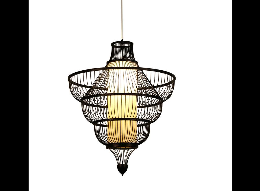 Deckenleuchte Pendelleuchte Beleuchtung Bambus Lampenschirm Handgefertigt - Jessie