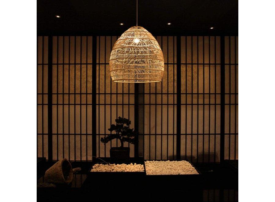 Fine Asianliving Bamboo Webbing Pendant Light Eve D29xH42cm