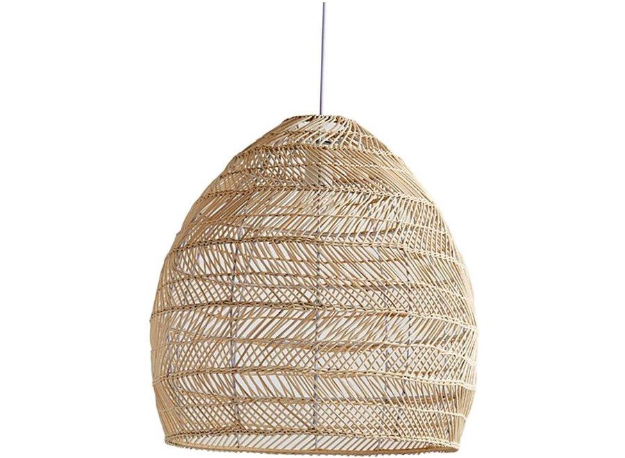 Pendelleuchte Hängelampe Bambus Webbing Handgefertigt Evelyn D24xH52cm