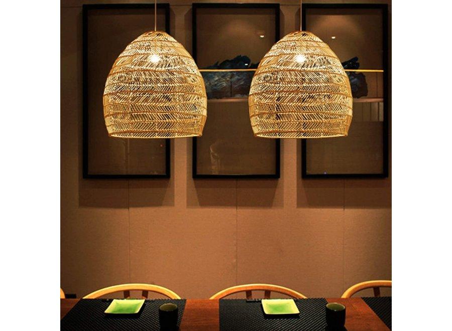 Fine Asianliving Bamboo Webbing Pendant Light Evelyn D24xH52cm