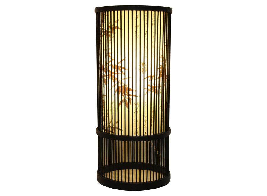 Bamboo Table Lamp Black Elijah D18xH42cm