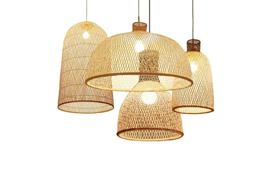 Pendelleuchte Hängelampe Bambus Handgefertigt Paisley D30xH55cm