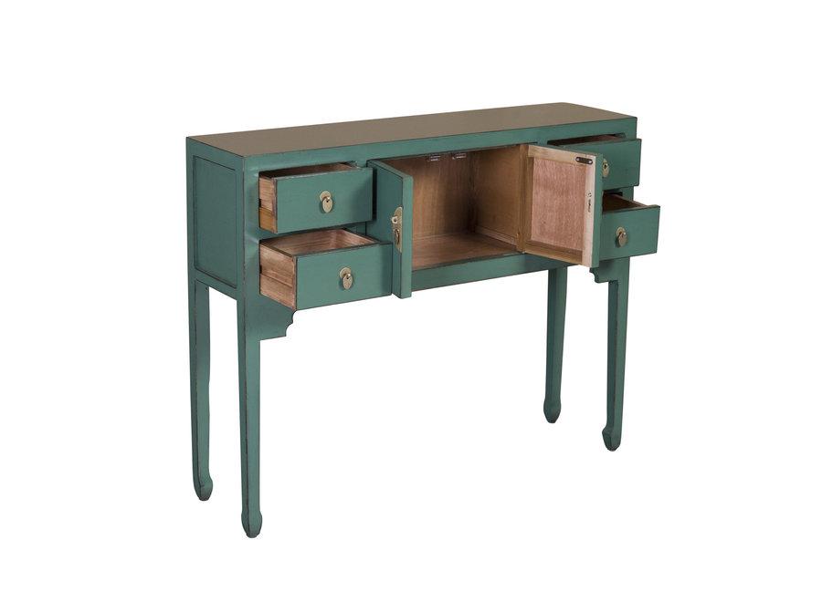 Fine Asianliving Chinesischer Konsolentisch Beistelltisch Tannengrün - Orientique Sammlung B100xT26xH80cm