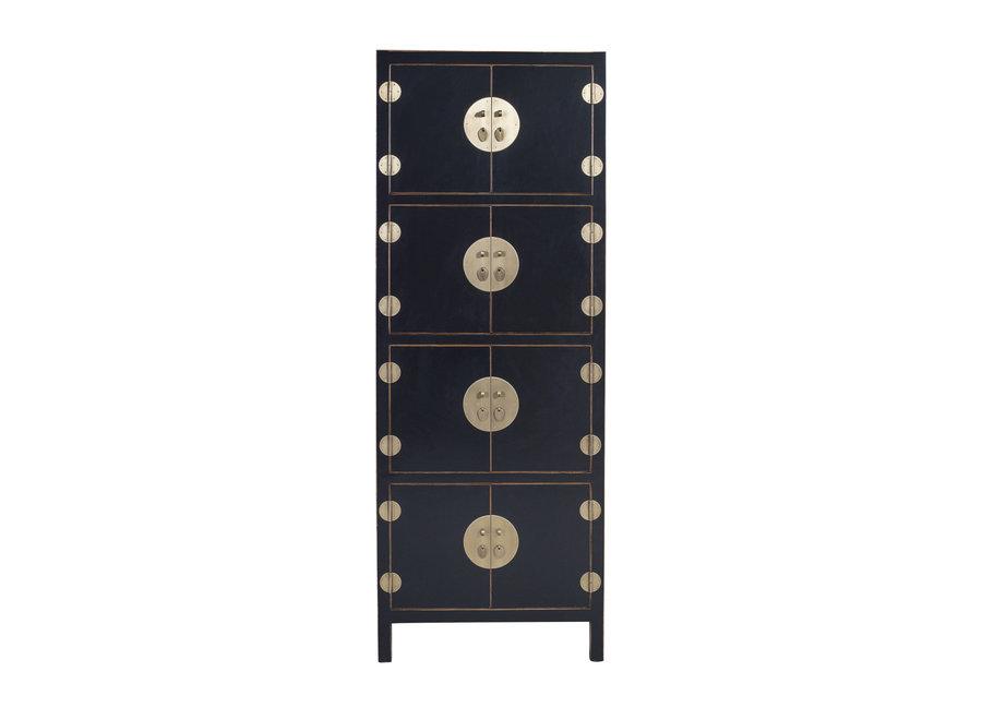 Fine Asianliving Chinesischer Schrank Onyx Black - Orientique Sammlung - B67xT45xH180cm