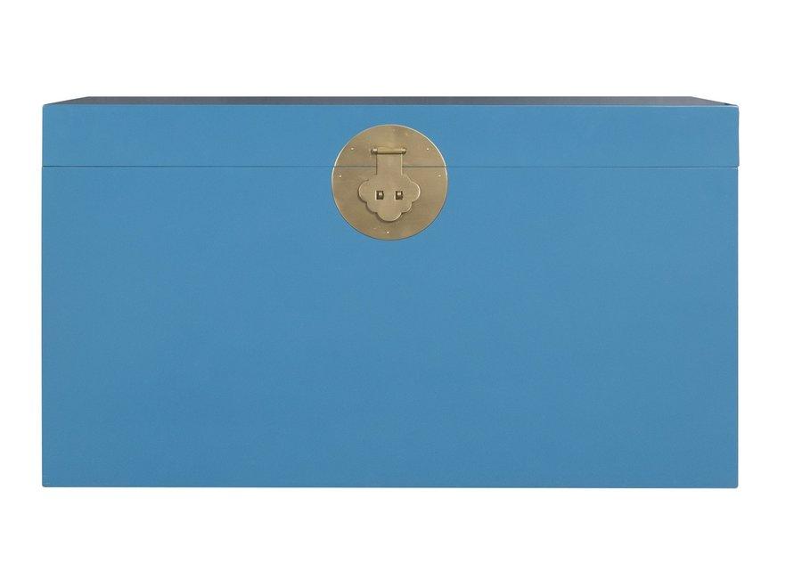 Fine Asianliving Chinesische Truhe Himmelblau - Orientique Sammlung B90xT45xH50cm