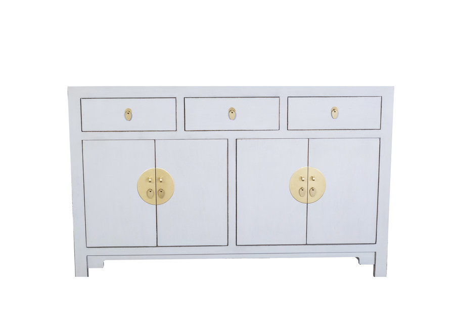 Chinese Sideboard Pastel Grey W140xD35xH85cm - Orientique Collection