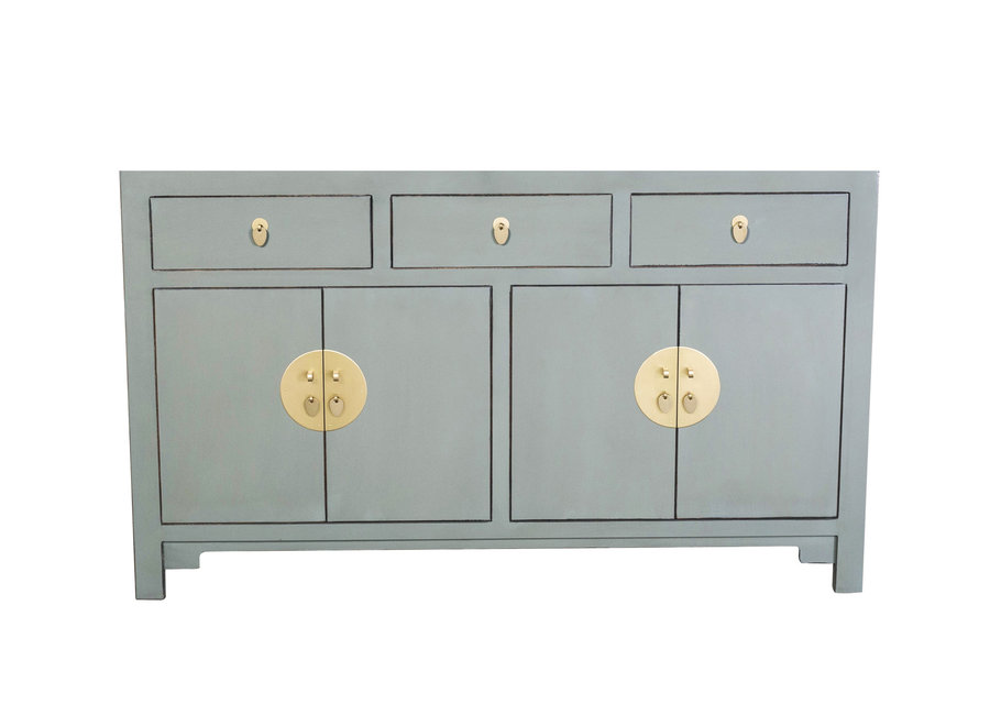 Chinese Sideboard Olive Grey W140xD35xH85cm - Orientique Collection