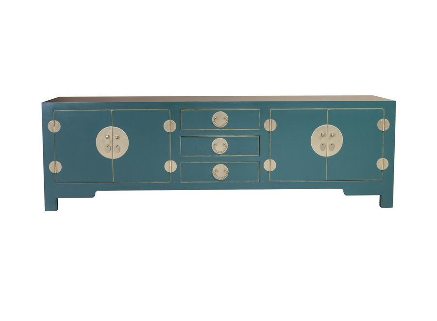 Chinese TV Stand Teal Blue W175xD47xH54cm